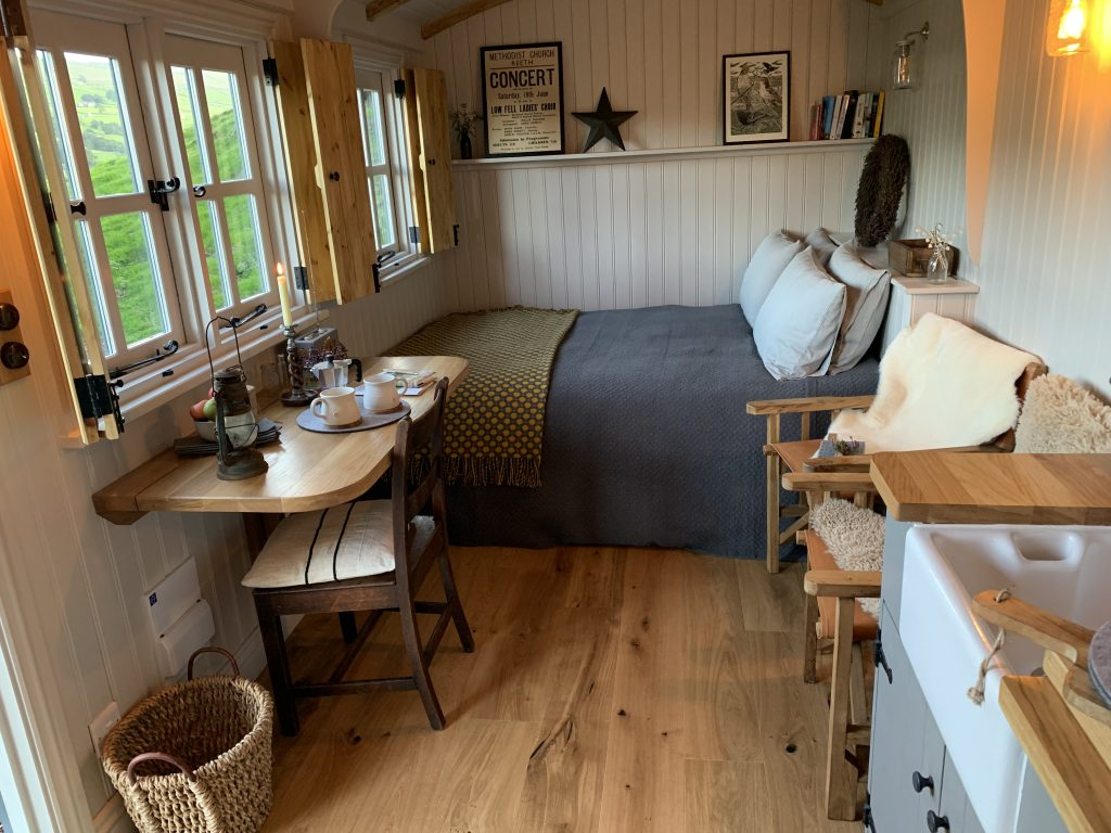 Shepherds Hut Interior Swaledale